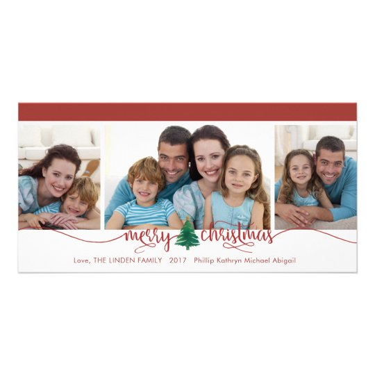 Merry Christmas, Changeable Red Border Card