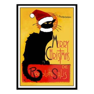 Merry Christmas -  Chat Noir Pack Of Chubby Business Cards