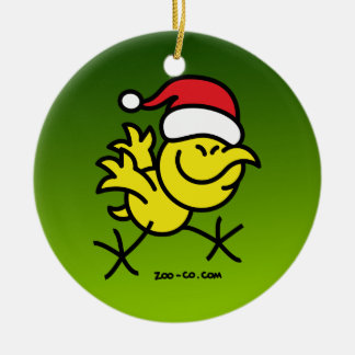 Merry Christmas Chicken Christmas Ornament