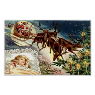 Merry Christmas Child Sleeping Posters