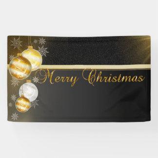 Merry Christmas ,Christmas Balls,Black Banner