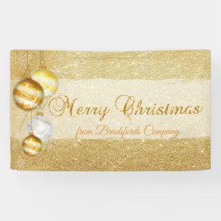 Merry Christmas ,Christmas Balls,Glittery Banner