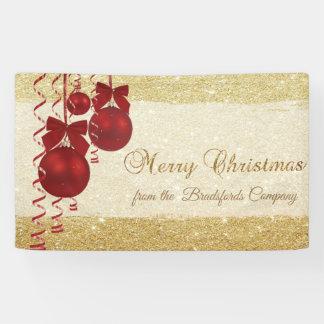 Merry Christmas ,Christmas Balls,Glittery,Company Banner