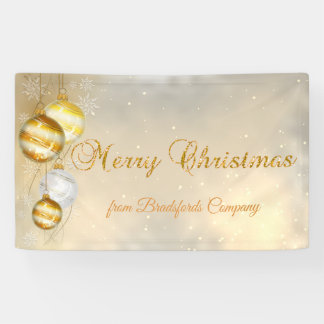 Merry Christmas ,Christmas Balls,Shiny Banner