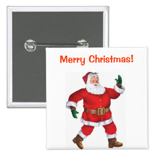 Merry Christmas! - Christmas Button 2 Inch Square Button