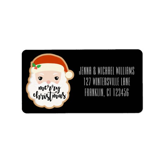 Merry Christmas | Christmas Cookie Santa Label