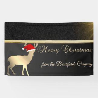 Merry Christmas ,Christmas Deer Santa Hat,Company Banner