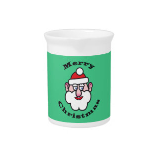 Merry Christmas, Christmas Santa Claus Pitcher