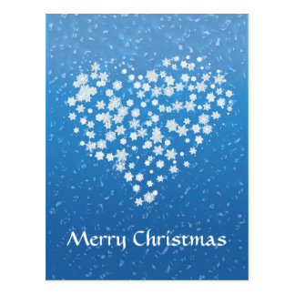 Merry Christmas |  Christmas stars in heart Postcard