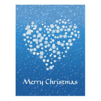 Merry Christmas |  Christmas stars in heart Postcard