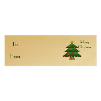 Merry Christmas, Christmas Tree Business Card
