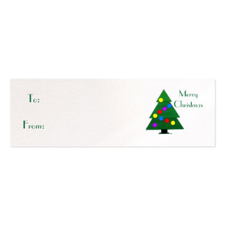 Merry Christmas, Christmas Tree Pack Of Skinny Business Cards