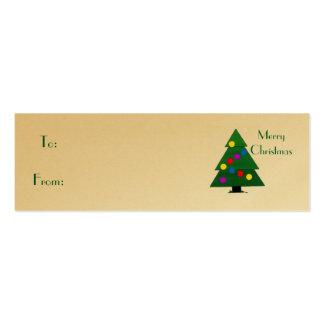 Merry Christmas, Christmas Tree Business Cards