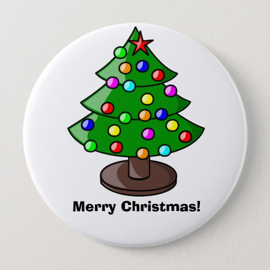 """Merry Christmas"" Christmas Tree Button"