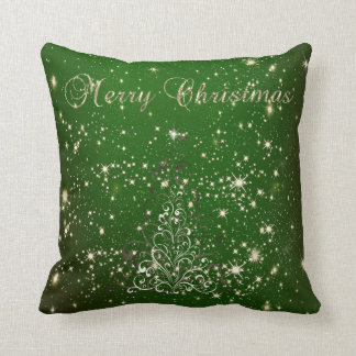 Merry Christmas,Christmas Tree,Sparkles,Green Cushion