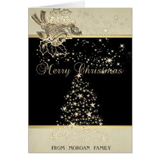 Merry Christmas,Christmas Tree ,Stars,Bell Card