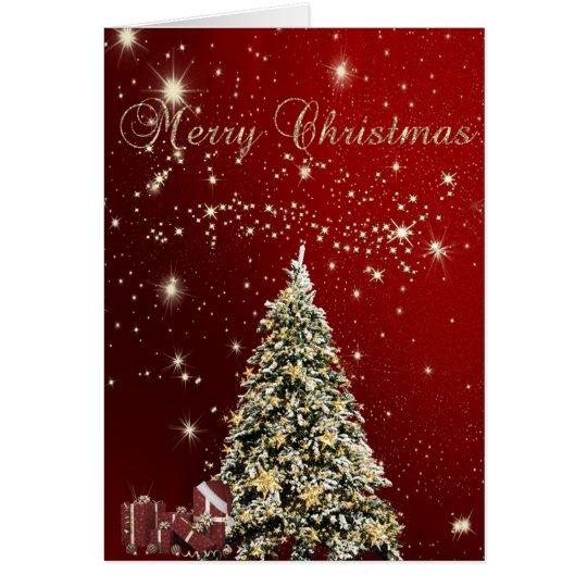 Merry Christmas,Christmas Trees ,Presents Card