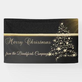 Merry Christmas ,ChristmasTree,Black,Company Banner