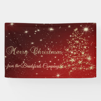 Merry Christmas ,ChristmasTree,Red,Company Banner