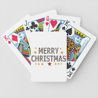 Merry Christmas Chrome Bicycle Playing Cards