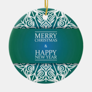 Merry Christmas Circle Ornament