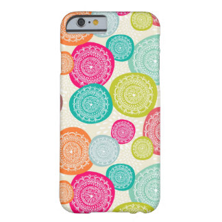 Merry Christmas Circle Pattern Barely There iPhone 6 Case