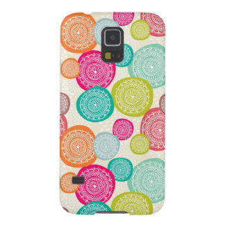 Merry Christmas Circle Pattern Case For Galaxy S5