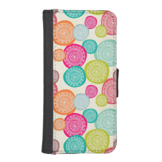Merry Christmas Circle Pattern iPhone SE/5/5s Wallet Case