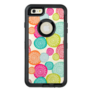 Merry Christmas Circle Pattern OtterBox Defender iPhone Case