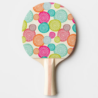 Merry Christmas Circle Pattern Ping Pong Paddle
