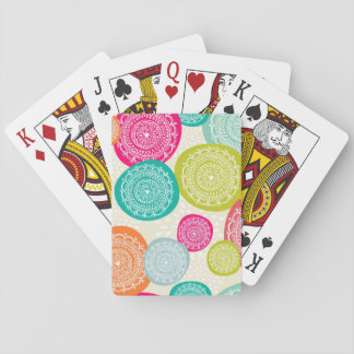 Merry Christmas Circle Pattern Playing Cards