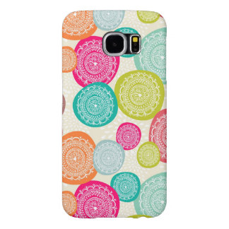 Merry Christmas Circle Pattern Samsung Galaxy S6 Cases
