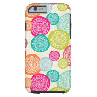 Merry Christmas Circle Pattern Tough iPhone 6 Case
