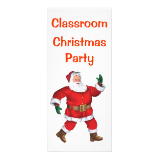 Merry Christmas! - Class Christmas Party Note Customized Rack Card