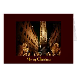 Merry Christmas - Classic Christmas Tree & Angels Card