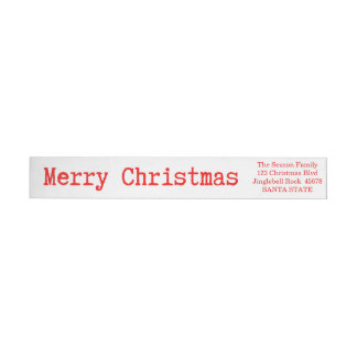 Merry Christmas Classic Wrap Around Label