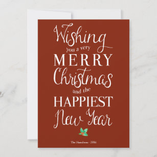 merry christmas classy holiday photo greeting