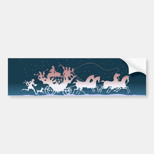 MERRY CHRISTMAS COACH by SHARON SHARPE Bumper Sticker