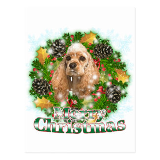 Merry Christmas Cocker Spaniel Postcard