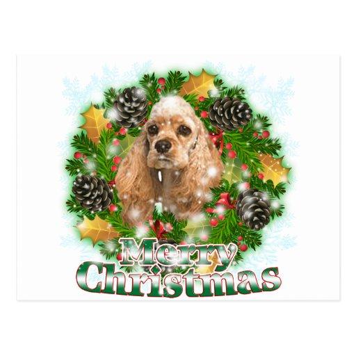 Merry Christmas Cocker Spaniel Postcards