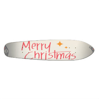 Merry Christmas Colorful Symbols Seamless Pattern Skate Board