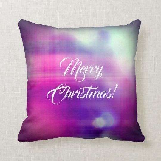 Merry Christmas Colourful Design Texture Cushion