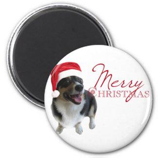 Merry Christmas Corgi Santa Magnet