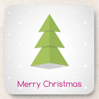 Merry Christmas Beverage Coasters