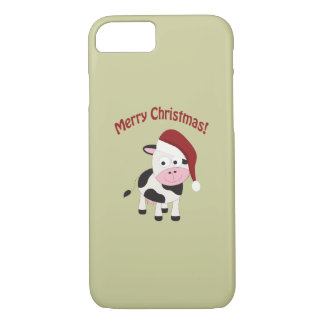 Merry Christmas Cow iPhone 7 Case