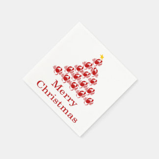 Merry Christmas Crab Disposable Napkins