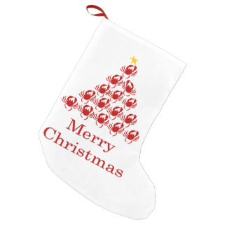 Merry Christmas Crab Small Christmas Stocking