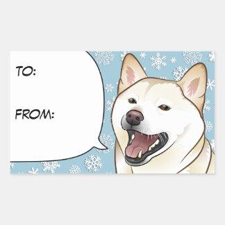 Merry Christmas Cream Shiba Inu Gift Tag