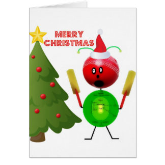 Merry Christmas Cricket Card
