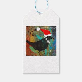 Merry Christmas Crow Tag